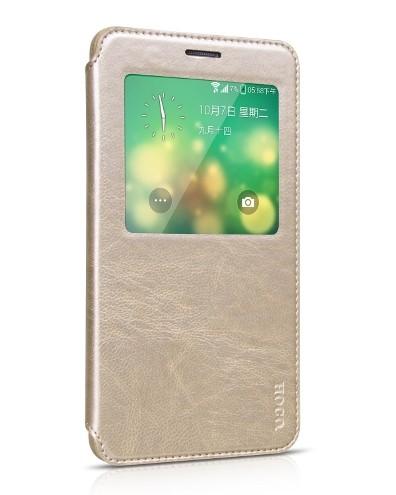 Чехол HOCO Crystal Leather Case для Samsung Galaxy Note 4 N910 Golden