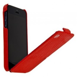 Чехол HOCO Lizard pattern Leather Case для iPhone 5 Red
