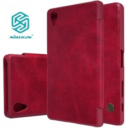 Чехол Nillkin Qin Leather Case для Sony Xperia X Performance Red (красный)