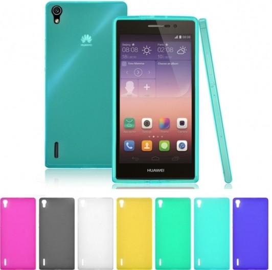 Накладка силиконовая для Huawei P8 прозрачно-белая