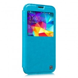 Чехол HOCO Crystal Leather Case для Samsung Galaxy S5 G900 Blue (голубой)