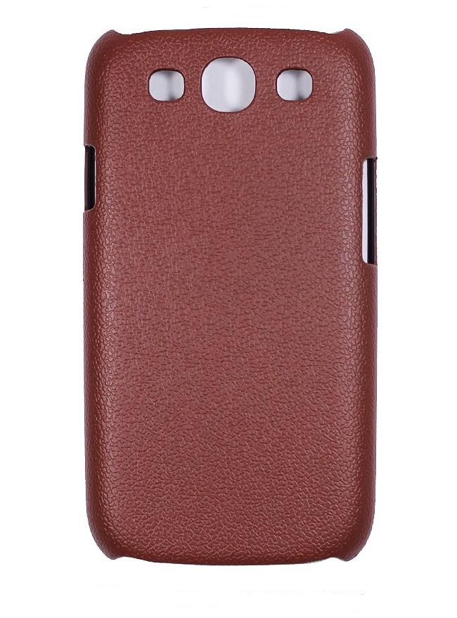 Накладка Jekod пластиковая для Samsung Galaxy S3 mini i8190 под кожу коричневая + пленка