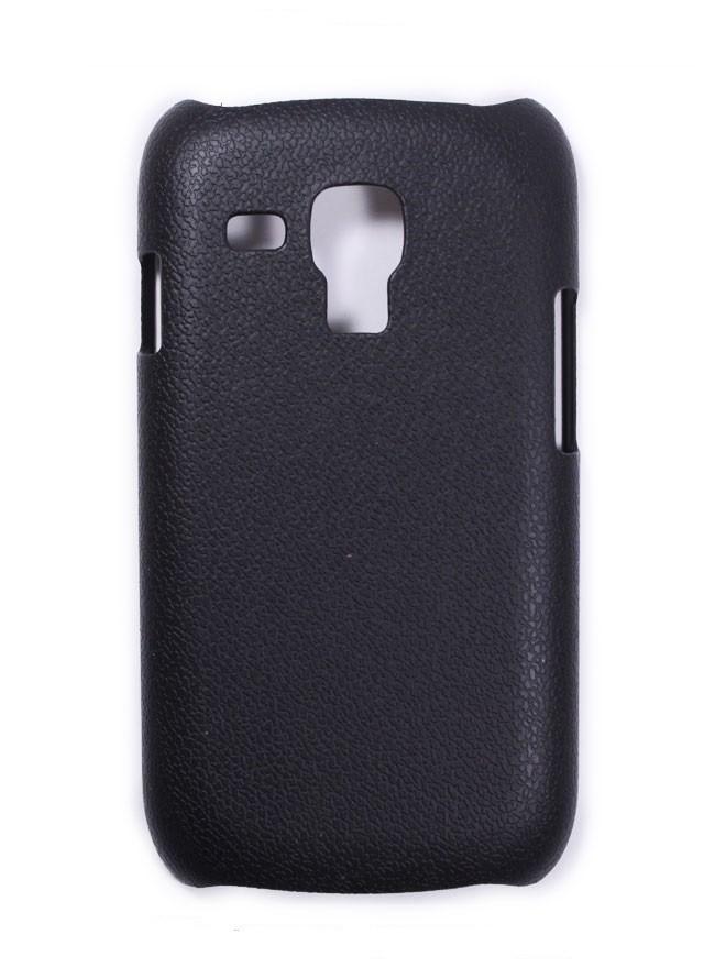 Накладка Jekod пластиковая для Samsung Galaxy S3 mini i8190 под кожу черная + пленка