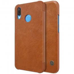 Чехол Nillkin Qin Leather Case для Huawei P20 Lite (Nova 3E) Brown (коричневый)