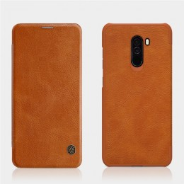 Чехол Nillkin Qin Leather Case для Pocophone F1 (Poco F1) Brown (коричневый)