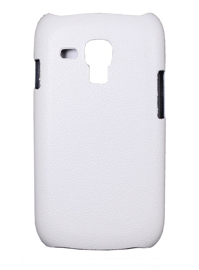 Накладка Jekod пластиковая для Samsung Galaxy S3 mini i8190 под кожу белая + пленка