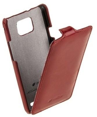 Чехол Melkco для Samsung i9100 Galaxy S II Vintage Red