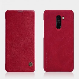 Чехол Nillkin Qin Leather Case для Pocophone F1 (Poco F1) Red (красный)