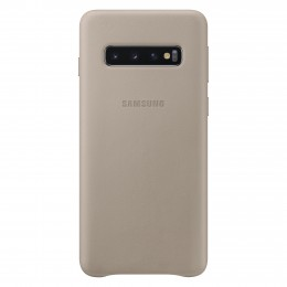 Накладка Samsung Leather Cover для Samsung Galaxy S10 SM-G973 EF-VG973LJEGRU серая