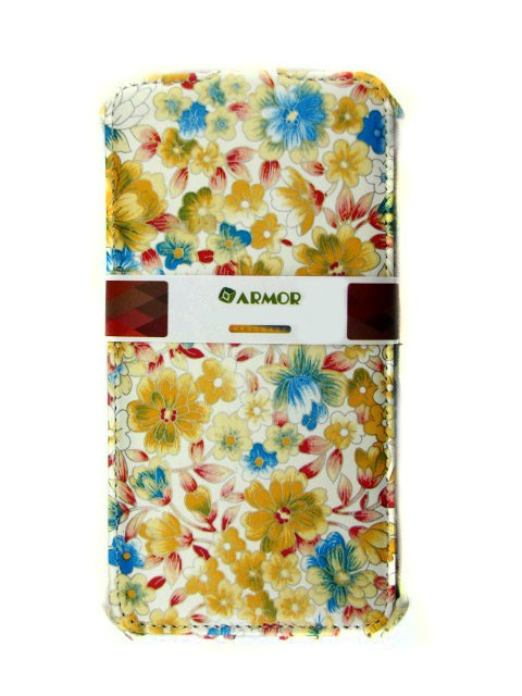 Чехол для Lenovo Vibe P1m белый с цветочками