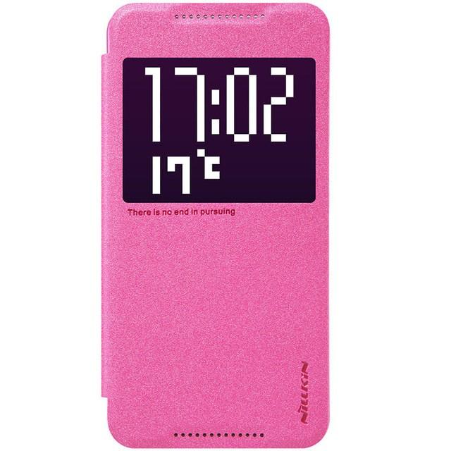Чехол Nillkin Sparkle Series для HTC One X9 Rose (малиновый)