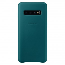 Накладка Samsung Leather Cover для Samsung Galaxy S10 SM-G973 EF-VG973LGEGRU зеленая