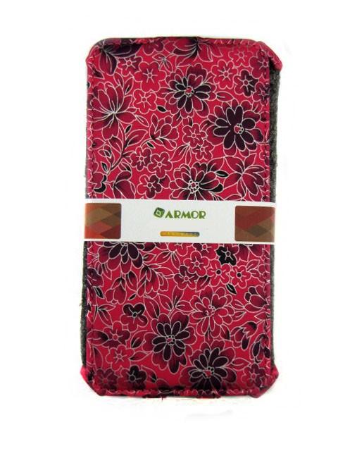 Чехол для Lenovo Vibe P1m малиновый с цветочками