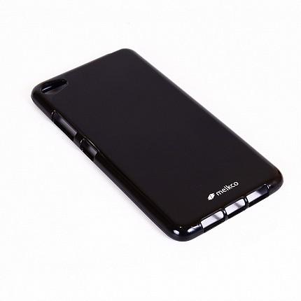 Накладка Melkco Poly Jacket силиконовая для Lenovo Sisley S90 Black Mat (черная)