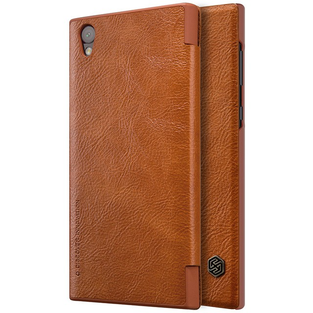 Чехол Nillkin Qin Leather Case для Sony Xperia L1 (G3311/G3312/G3313) Brown (коричневый)