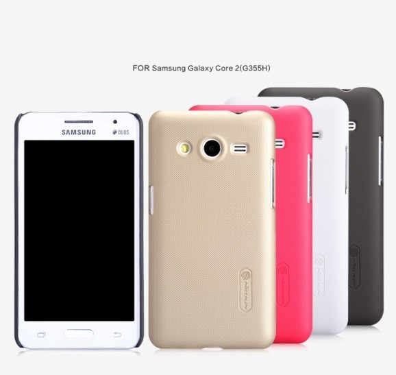 Накладка Nillkin пластиковая для Samsung Galaxy Core 2 G355 золотая