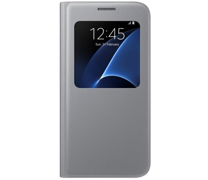 Чехол Flip Cover S-View для Samsung Galaxy S7 SM-G930 EF-CG930PSEGRU серебристый