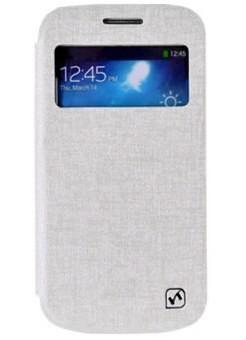 Чехол HOCO Leather Case Star Series для Samsung Galaxy S4 mini белый с окном