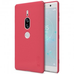 Накладка Nillkin Frosted Shield пластиковая для Sony Xperia XZ2 Premium Red (красная)