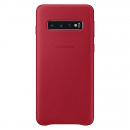 Накладка Samsung Leather Cover для Samsung Galaxy S10 SM-G973 EF-VG973LREGRU красная