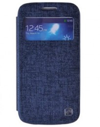 Чехол HOCO Leather Case Star Series для Samsung Galaxy S4 mini синий с окном