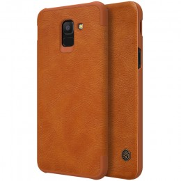 Чехол Nillkin Qin Leather Case для Samsung Galaxy J6 (2018) J600 Brown (коричневый)