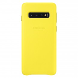 Накладка Samsung Leather Cover для Samsung Galaxy S10 SM-G973 EF-VG973LYEGRU желтая