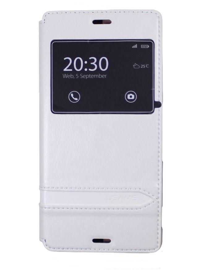 Чехол Usams для Sony Xperia Z3 белый с окном