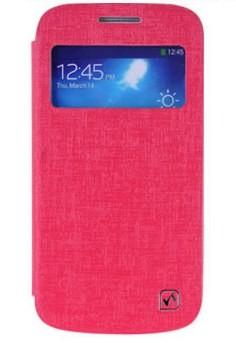 Чехол HOCO Leather Case Star Series для Samsung Galaxy S4 mini малиновый с окном