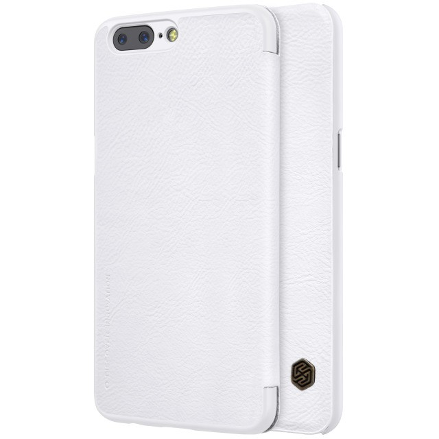 Чехол Nillkin Qin Leather Case для OnePlus 5 White (белый)