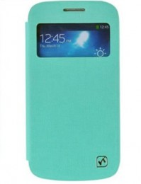 Чехол HOCO Leather Case Star Series для Samsung Galaxy S4 mini бирюзовый с окном