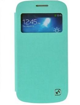 Чехол HOCO Leather Case Star Series для Samsung Galaxy S4 mini бирюзовый с окном