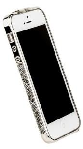 Бампер металлический Newsh для iPhone 5 со стразами серыми