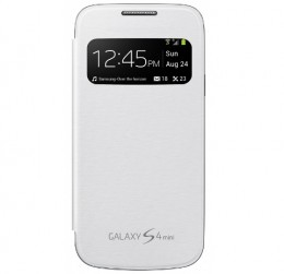 Чехол Flip Cover S-View для Samsung Galaxy S4 mini i9190/ i9192/ i9195 белый