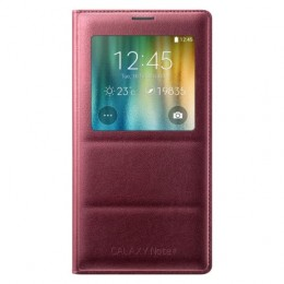 Чехол Flip Cover S-View для Samsung Galaxy Note 4 N910 красный