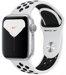 Apple Watch Series 5 GPS 40mm Silver Aluminum Case with Nike Sport Band (MX3R2)