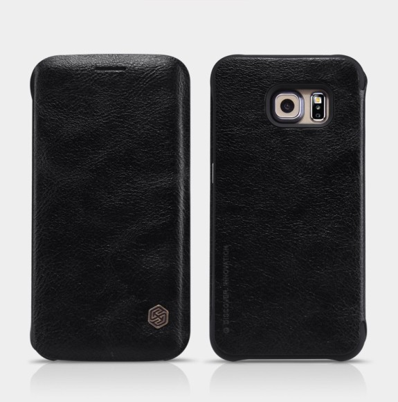 Чехол Nillkin Qin Leather Case для Samsung Galaxy S6 Edge G925 Black (черный)