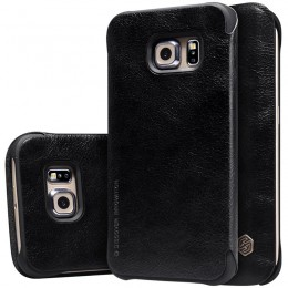 Чехол Nillkin Qin Leather Case для Samsung Galaxy S6 Edge G925 Black (черный)