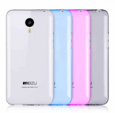 Накладка силиконовая для Meizu M2 mini прозрачно-черная