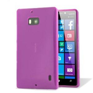 Силиконовая накладка для Nokia Lumia 930 фиолетовая