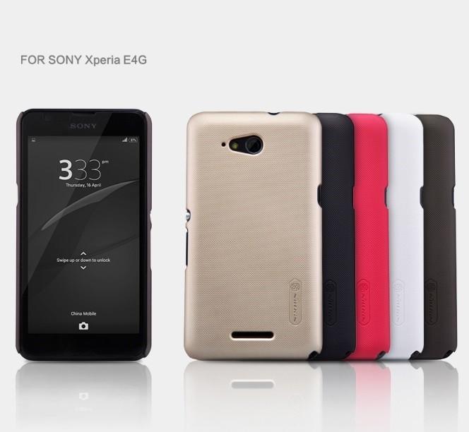 Накладка Nillkin пластиковая для Sony Xperia E4g красная