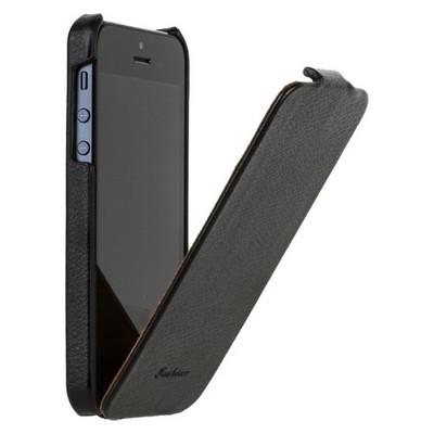 Чехол Fashion для iPhone 5 с откидным верхом черный