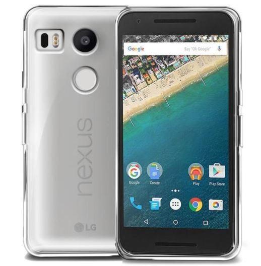 Накладка силиконовая для LG Nexus 5X прозрачно-черная