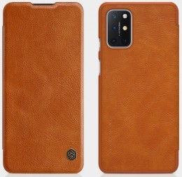 Чехол Nillkin Qin Leather Case для OnePlus 8T Brown/Коричневый