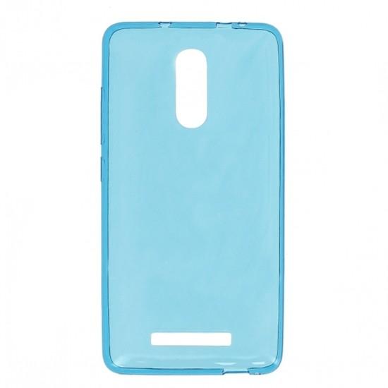 Накладка силиконовая для Xiaomi Redmi Note 3 прозрачно-синяя