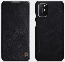 Чехол Nillkin Qin Leather Case для OnePlus 8T Black/Чёрный