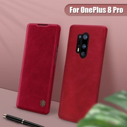 Чехол Nillkin Qin Leather Case для OnePlus 8 Pro Red (красный)