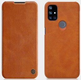 Чехол Nillkin Qin Leather Case для OnePlus Nord N10 Brown/Коричневый