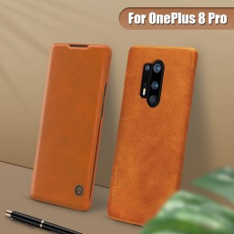 Чехол Nillkin Qin Leather Case для OnePlus 8 Pro Brown (коричневый)