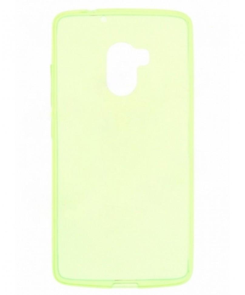 Накладка силиконовая для Lenovo K4 Note (A7010/Vibe X3 lite) прозрачно-зеленая